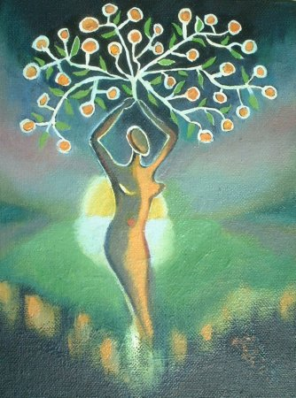 Modern, contemporary,sun, morning, woman, colorful, tree, birth, eros,Enigma, lady, woman,Oil painting,Painting, art,fine art,figure, imaginative, surrealistic, fantasy, imaginary,