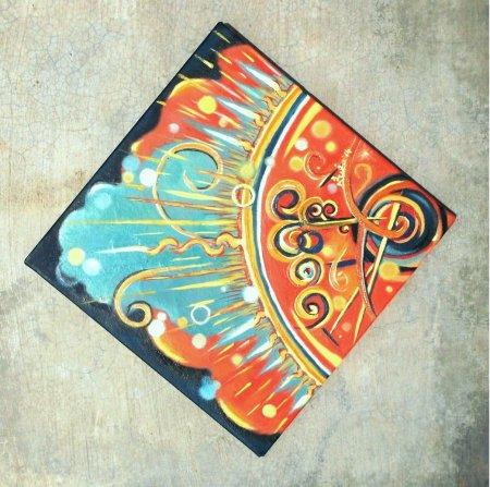 Chakra, contemporary painting, Modern Painting, Sudarshan, contemporary, art, oil painting, chakra, Vishnu Chakra, spiritual art, Indian art, india, Sudarshana,