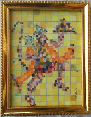 Hanuman,modern, Spiritual art,Hindu Gods,contemorary,india,Vedic art, acrylic painting,cubism,art, beautiful paintings,