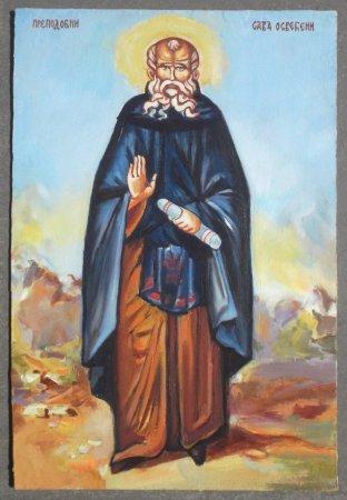 Ikon, Christian, art, painting, traditional, Sveti sava, svetac, Srpski svetac, Saint Sava, Holy man, preacher.