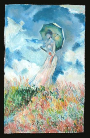 Monet, Woman with a parasol