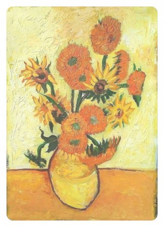 Sunflovers, Flowers, Vase, Yellow Flowers, reproduction, Van Gogh, impressionism, painting, canvas, colorful, art, oil, oil painting, thick, zuza, modern