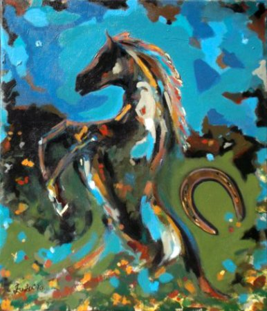 Transformed, Horse Study,Painting imaginative,acrylic painting,art,fine art,collection, Modern, contemprary, strength, colorful,great,luck, lucky charm,
