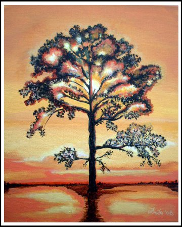 Mystical, Tree,Acrylic painting,Painting, art, fine art,imaginative, surrealistic, fantasy, India,