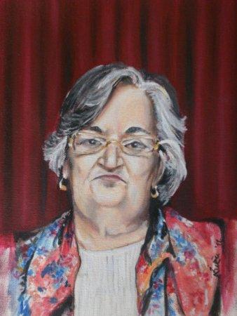 Majka (Mother),portrait, beautiful, older woman, modern, firugrative, figure, stylish, realistic,realism, Oil painting, medium, Painting art, fine art, painting,