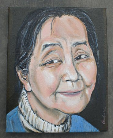 Smile, portrait, beautiful, older woman, modern, firugrative, figure, stylish, realistic,realism, Oil painting,Painting art, fine art, painting,