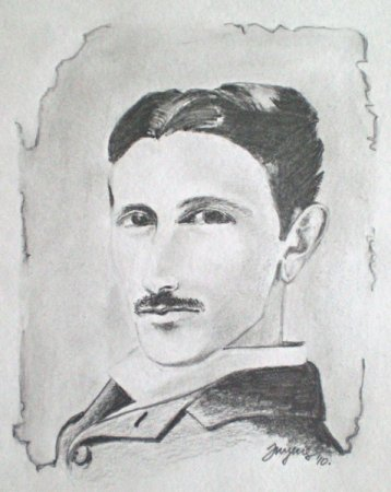 Tesla, Nikola Tesla, Man, Fututre, Inventor, Great Man, portrait, drawing, pencil, art, pencil on paper, face, figure, figurative, fine art,Realism,